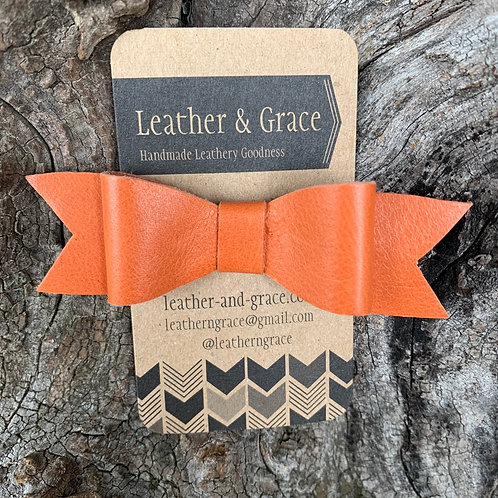 Orange Mini Bow with Clip