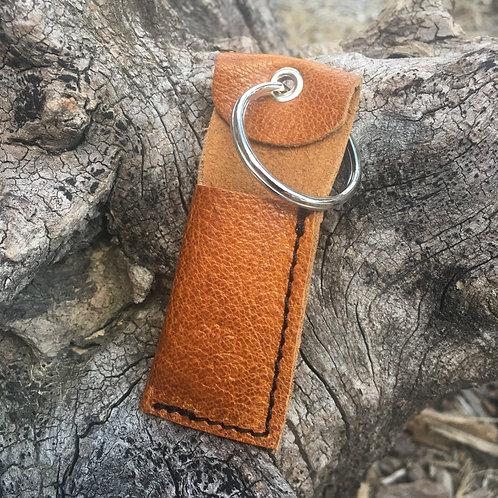 Chapstick Keychain in Burnt Umber
