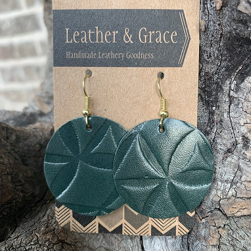 Emerald Embossed Circles