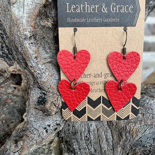 True Red Double Mini Hearts