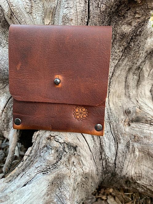 Cash & Card Wallet in Red Walnut