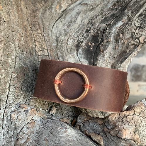 Copper Circle Cuff