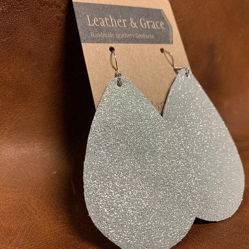 Glittery Silver Giant Drop