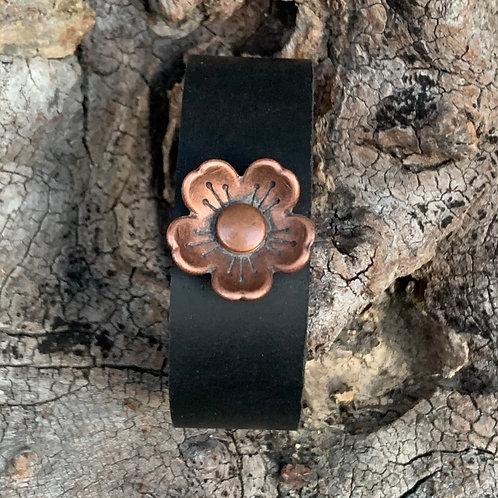 Copper Floral Cuff