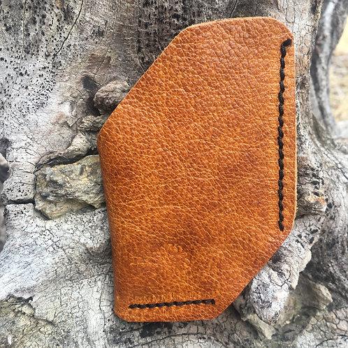 Front Pocket Wallet or Business CardHolder in Tangerine Brown