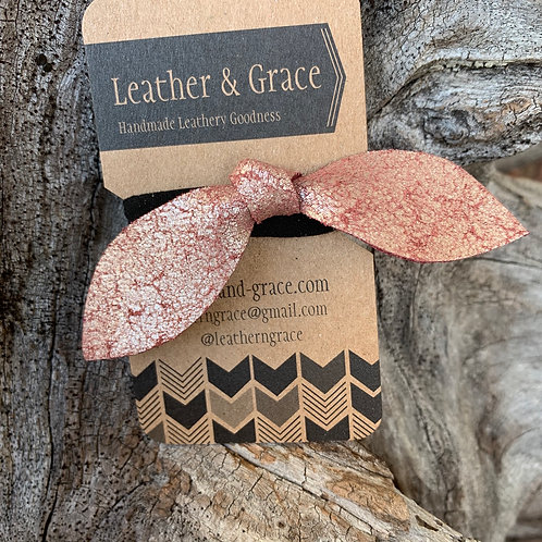 Rose Gold Crackle Hair Tie
