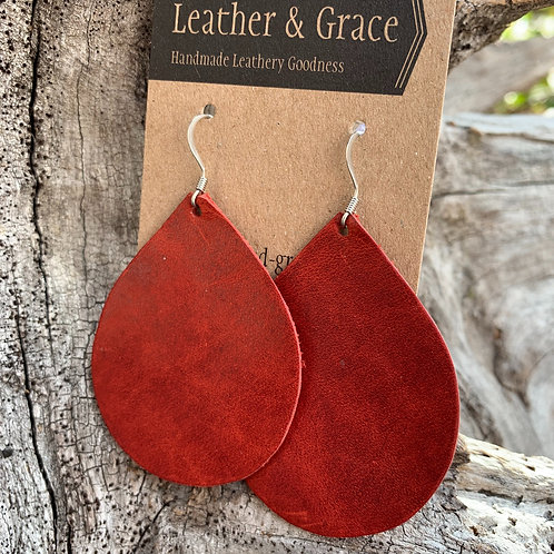 Aged Red Teardrops