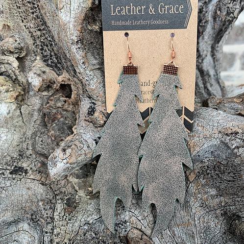 Green Metallic Extra Long Feathers