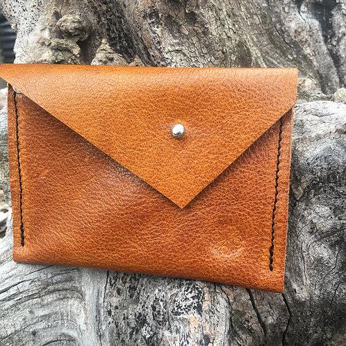 Double Pocket Wallet in Tangerine Brown