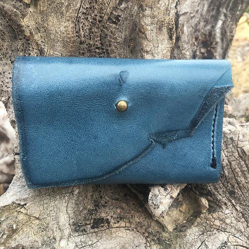 Tri-Fold Wallet in Dusty Blue