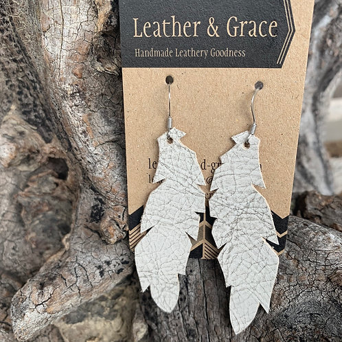 Soft Grey Crackle Feathers