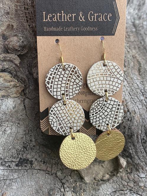 Mosaic Pattern & Metalkic Gold Circles