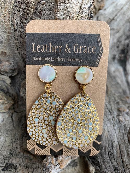 Mini Gold & Teal Speckled Posts
