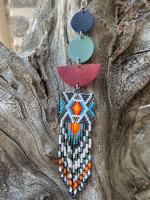 Multi Colored Beaded Phoenix