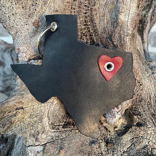 Texas Heart Keychain