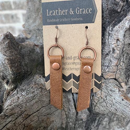 Pecan Bars and Loop Earrings