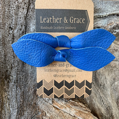 Royal Blue Double Bows with Clips