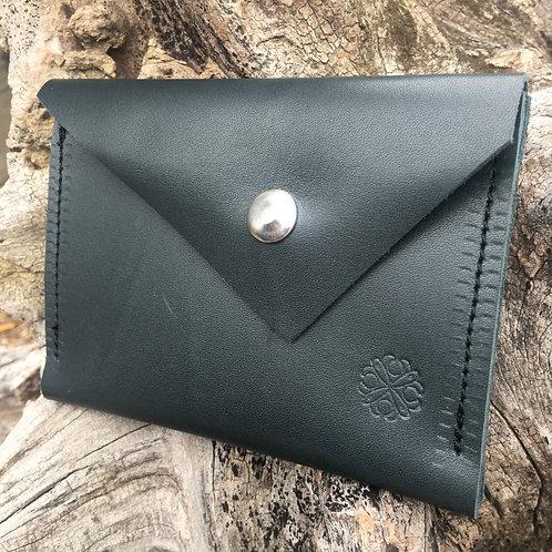 Double Pocket Wallet in Deep Green
