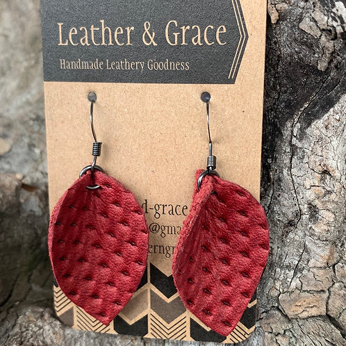 Red Imprinted Mini Pinched Petals