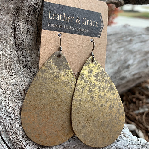 Giant Drops in Antique Gold