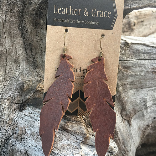 Pecan Brown Feathers