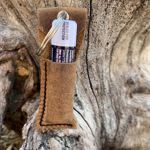 Chapstick Keychain in Soft Brown