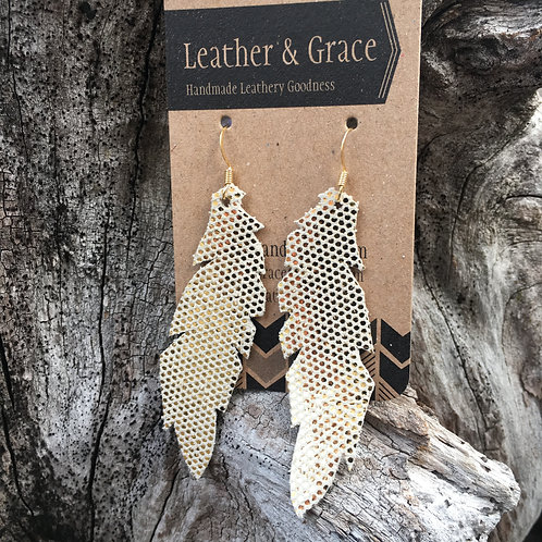 Golden Dotted Feathers