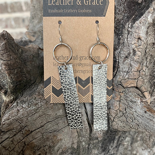 Silver Pebble Bar Earrings