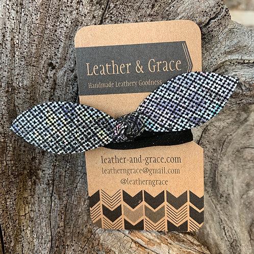 Cross-Stitch Pattern Hair Tie