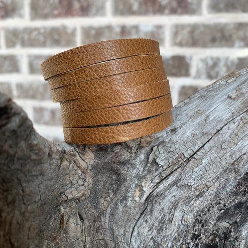 Peanut Butter 6 Strand Bracelet