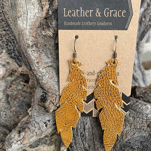 Mustard Crackle Feathers