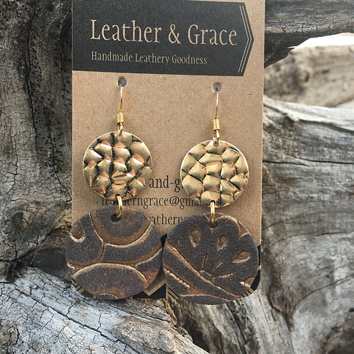 Golden Embossed Drop Circles