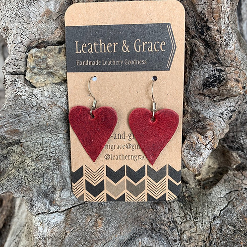 Mini Deep Red Hearts