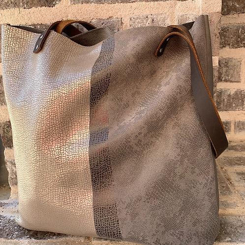 Large Shoulder Bag in TriColor Metallic