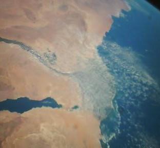 Nile Delta, Egyptian Coast, Suez Gulf and Sinai Peninsula