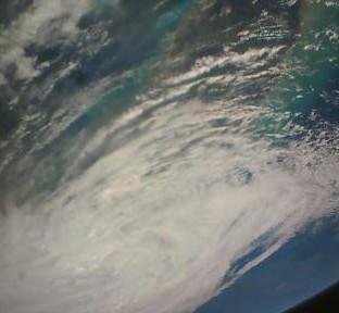 Hurricane Irma over Florida, USA