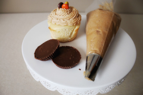 Peanut Butter Vanilla Cupcake