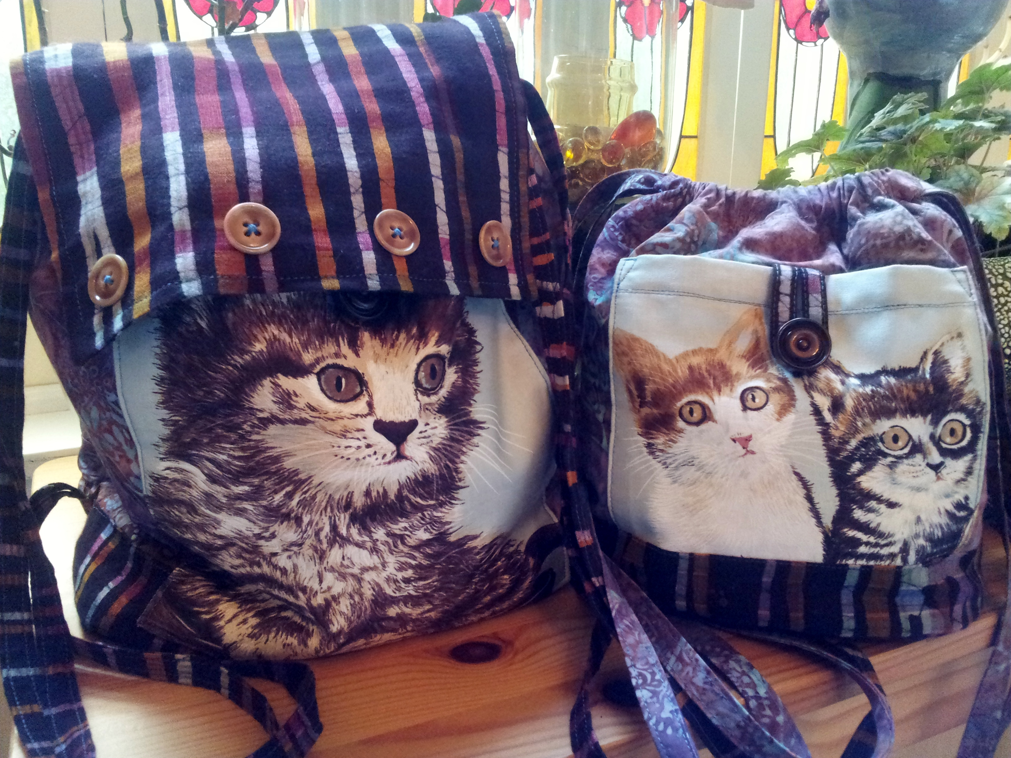 Big and Littles, Kitty Cat Rucksacks