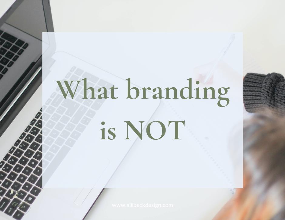 What branding is not blog header