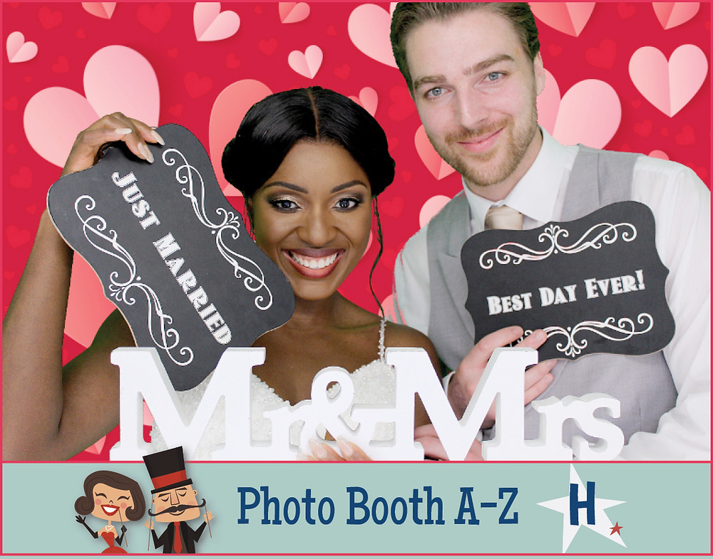 Photo Booth Heart backdrops