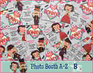 The Two Bonnys photo booth branding