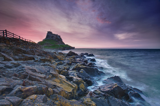Dawn over Lindisfarne Castle