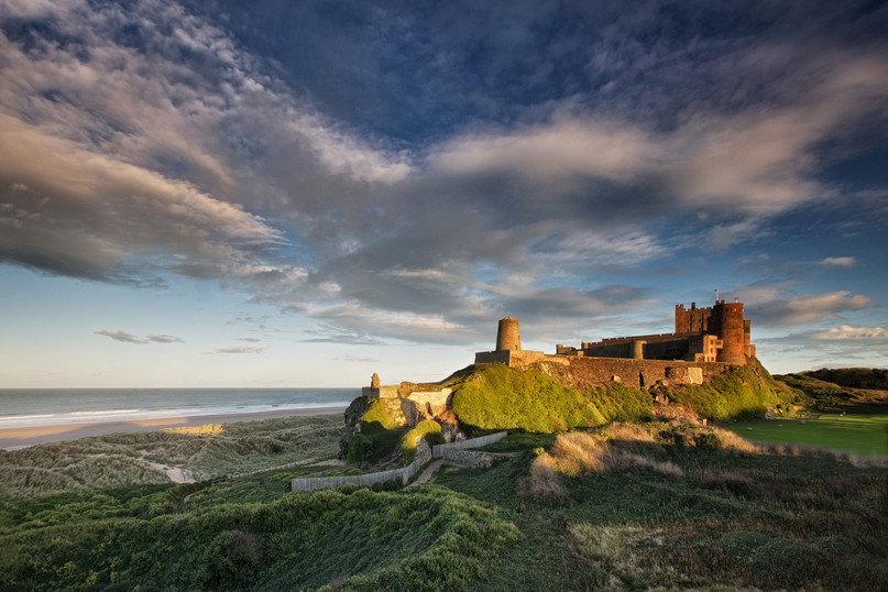 Sunset on Bamburgh