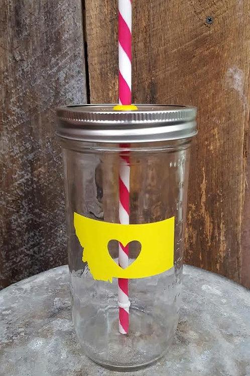 """""""Heart Montana"""" Mason Jar Cup"""