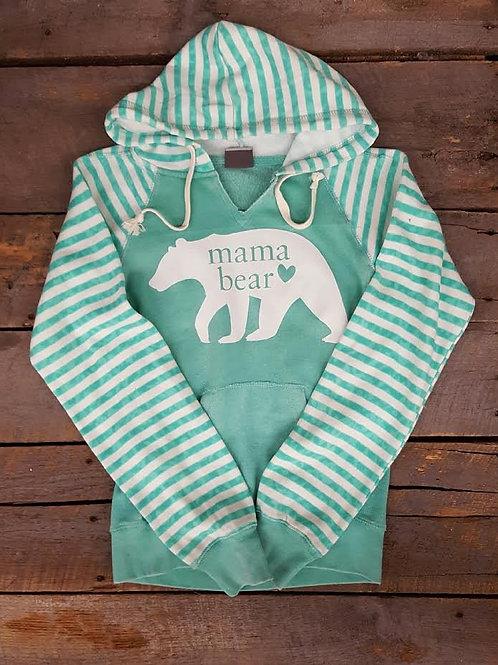 Mama Bear Striped Sweatshirt
