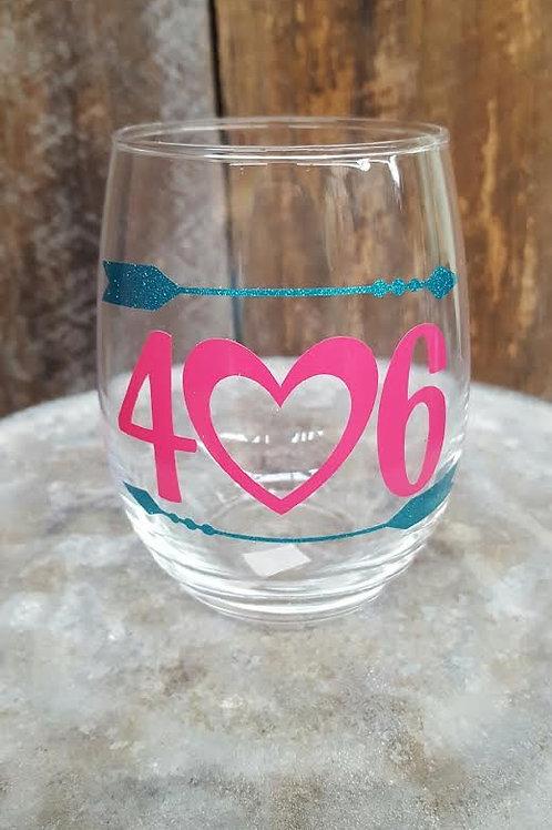 """""""406"""" Wine Glass"""