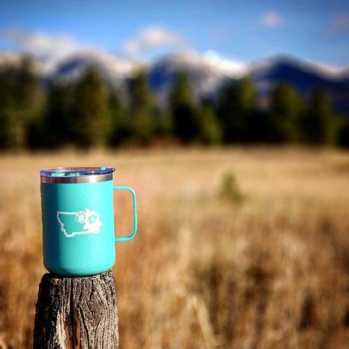 Floral Montana Camper Cup