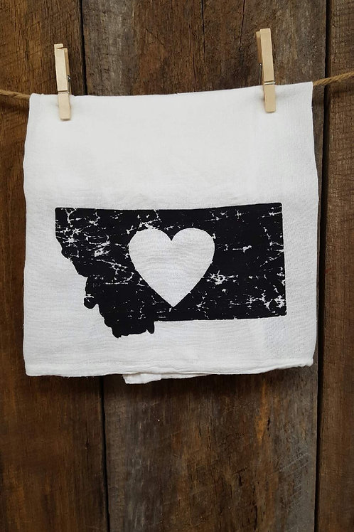 """Heart Montana"" tea towel"