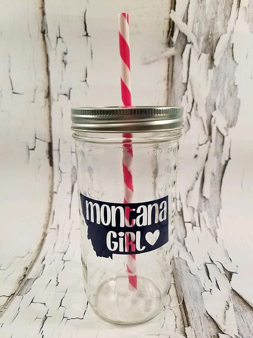 Montana Girl Mason Jar