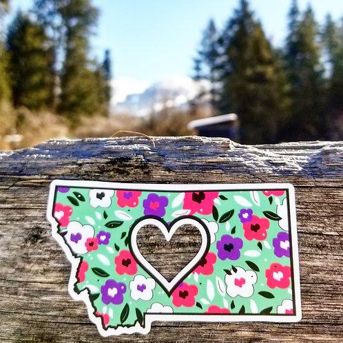 Floral Montana Love Sticker